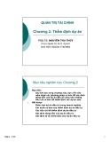 Bài giảng Quản trị tài chính doanh nghiệp: Chương 2 - PGS.TS. Nguyễn Thu Thủy