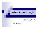 Bài giảng Quản trị chiến lược - ThS. Lương Thu Hà