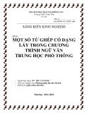 SKKN: Một số từ ghép có dạng láy trong chương tình Ngữ Văn trung học phổ thông