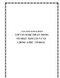 SKKN: Lời văn nghệ thuật trong Vợ nhặt - Kim Lân và Vợ chồng A Phủ - Tô Hoài