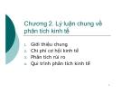 Bài giảng Phân tích kinh tế dự án: Chương 2 - GV. Phạm Lê Thông