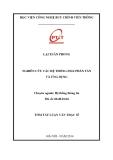 Tóm tắt luận văn Thạc sỹ chuyên ngành Hệ thống thông tin: Nghiên cứu các hệ thống file phân tán và ứng dụng