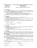 Đề thi tuyển sinh Trung học phổ thông Chuyên môn Vật lý năm học 2008 -  2009