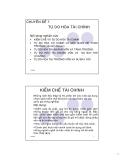 Chuyên đề 7: Tự do hóa tài chính
