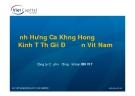 Ảnh hưởng của khủng hoảng kinh tế thế giới đến Việt Nam