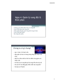 Bài giảng Quản trị nguồn nhân lực - Chương 4: Quản lý xung đột và đàm phán