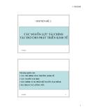 Chuyên đề 2: Các nguồn lực tài chính tài trợ cho phát triển kinh tế