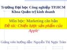 Bài thuyết trình: Chiến lược sản phẩm của Apple