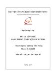 Tóm tắt luận văn Thạc sỹ ngành Kĩ thuật viễn thông: Tối ưu vùng phủ mạng thông tin di động 3G WCDMA