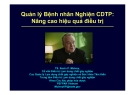 Bài giảng Quản lý Bệnh nhân Nghiện CDTP: Nâng cao hiệu quả điều trị - TS. Kevin P. Mulvey