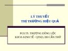 Bài giảng Thị trường tài chính: Chương 1 - PGS.TS. Trương Đông Lộc