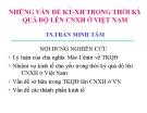 Bài giảng Những vấn đề KT-XH trong thời kỳ quá độ lên CNXH ở Việt Nam - TS.Trần Minh Tâm
