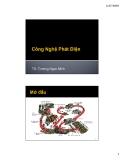 Bài giảng Công nghệ phát điện - TS. Trương Ngọc Minh