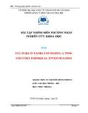 Bài tập phương pháp nghiên cứu khoa học: Culture in family business: a two-country empirical investigation