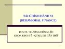 Bài giảng Thị trường tài chính: Chương 3 - PGS.TS. Trương Đông Lộc