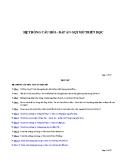 Hệ thống câu hỏi - đáp án gợi mở triết học
