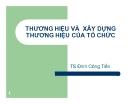 Bài giảng Thương hiệu và xây dựng thương hiệu của tổ chức - TS. Đinh Công Tiến