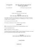 Quyết định 1836/QĐ-CTN năm 2013
