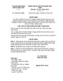 Quyết định 3620/QĐ-UBND năm 2013
