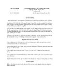 Văn bản hợp nhất 07/VBHN-BTC năm 2013