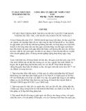 Chỉ thị 16/CT-UBND năm 2013 tỉnh Bình Phước