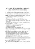 Đề cương ôn thi học kỳ II môn Địa lí 12 - THPT Phan Ngọc Hiển