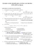 Tài liệu luyện thi môn Hóa 12 nâng cao chương Este-Lipit (có đáp án)