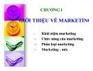 Bài giảng Marketing căn bản: Chương 1 - Quách Thị Bửu Châu