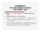 Bài giảng môn Quản trị nhà hàng: Chương 6 - GV. Trần Thu Hương
