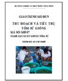 Giáo trình Thu hoạch và tiêu thụ tôm sú giống: Phần 2 - Lê Thị Minh Nguyệt (chủ biên)