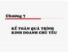 Bài giảng Nguyên lý kế toán: Chương 7 - TS. Trần Văn Thảo