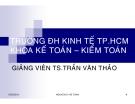 Bài giảng Nguyên lý kế toán: Chương 1 - TS. Trần Văn Thảo