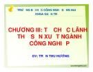 Bài giảng Địa lý kinh tế Việt Nam: Chương 3 - GV Trần Thu Hương