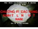 Bài giảng Địa lý kinh tế Việt Nam: Chương 6 - GV Trần Thu Hương
