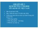 Chuyên đề 7: Định hướng công nghiệp hóa hiện đại hóa nền kinh tế Việt Nam - TS.Trần Du Lịch