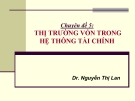 Chuyên đề 5: Thị trường vốn trong hệ thống tài chính - Dr. Nguyễn Thị Lan