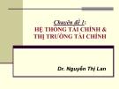 Chuyên đề 1: Hệ thống tài chính & thị trường tài chính - Dr. Nguyễn Thị Lan