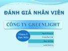 Thuyết trình: Đánh giá nhân viên công ty Green light