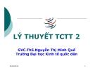 Bài giảng Lý thuyết tài chính tiền tệ: Chương 8 - GVC.ThS.Nguyễn Thị Minh Quế