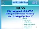 Thuyết trình Quản trị dự án: Xây dựng mô hình ERP cho trường đại học X