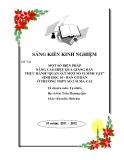 """SKKN: Một số biện pháp nâng cao hiệu quả giảng dạy bài 28: thực hành """"quan sát vi sinh vật"""" Sinh học 10 ban cơ bản"""