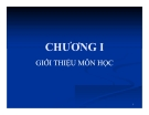 Bài giảng Nguyên lý thống kê: Chương 1 - GV. Hà Văn Sơn