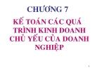 Bài giảng Nguyên lý kế toán: Chương 7 - GV. Phạm Thanh Liêm