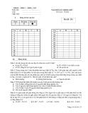 Đề thi Nguyên lý thống kê (Mã đề 153)