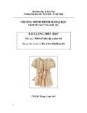 Bài giảng Thiết kế mẫu rập y phục nữ -  KS. Trần Thị Hồng Mỹ
