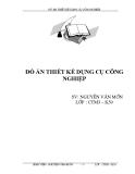 Đồ án Thiết kế dụng cụ công nghiệp - SV Nguyễn Văn Mởn
