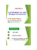 Bài giảng Mô hình tài chính: Chương 4 - ThS. Nguyễn Lê Hồng Vỹ