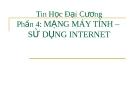 Bài giảng Tin học đại cương: Phần 4 - Mạng máy tính sử dụng Internet