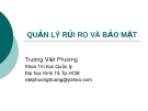 Bài giảng Quản lý rủi ro và bảo mật - Trương Việt Phương