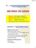 Bài giảng Mô hình tài chính: Chương 1 - ThS. Nguyễn Lê Hồng Vỹ